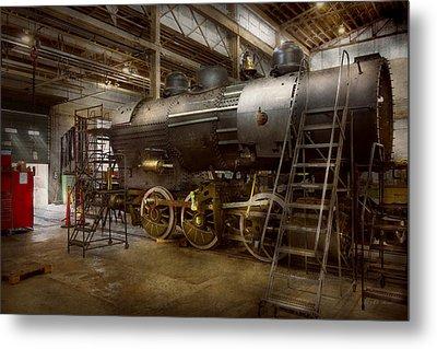 Locomotive - Repairing History Metal Print by Mike Savad