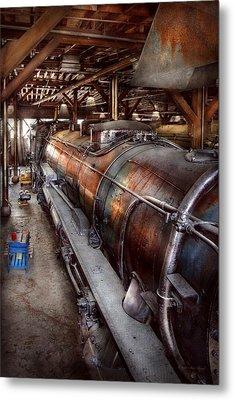Locomotive - Routine Maintenance  Metal Print by Mike Savad