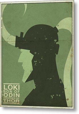 Loki - Son Of Odin Metal Print by Michael Myers