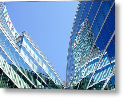 Lombardy Building Metal Print by Valentino Visentini