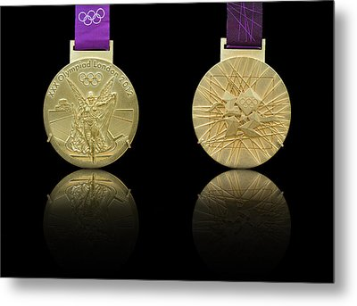 London 2012 Olympics Gold Medal Design Metal Print by Matthew Gibson