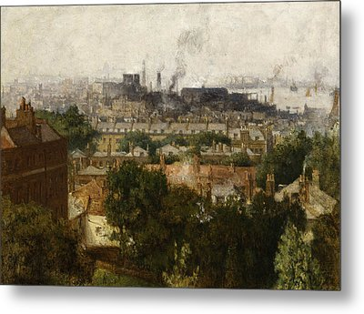 London And The Thames From Greenwich Metal Print by John Auld