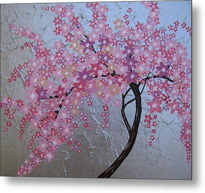 London Blossoms Metal Print by Cathy Jacobs