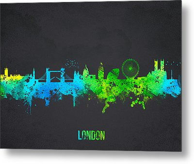 London England Metal Print by Aged Pixel