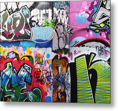 London Skate Park Abstract Metal Print by Rona Black