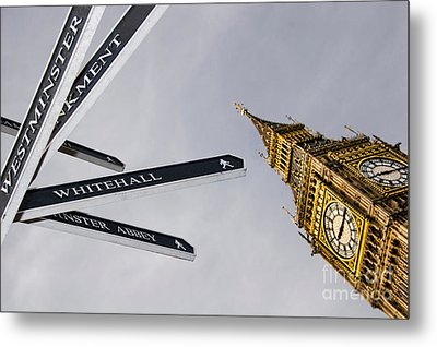 London Street Signs Metal Print by David Smith