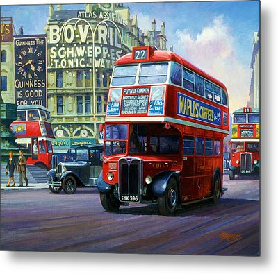 London Transport Rt1. Metal Print by Mike  Jeffries
