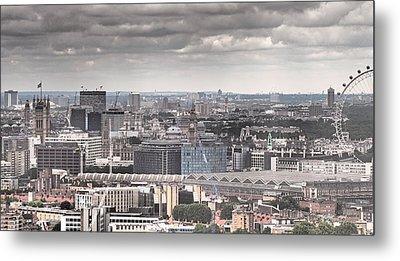 London Under Grey Skies Metal Print by Rona Black
