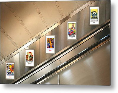London Underground Poster Collection Metal Print by Mark Rogan