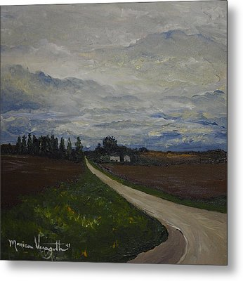 Lone Country Road Metal Print by Monica Veraguth
