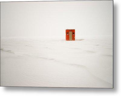 Lone Ice Shanty Metal Print by Darylann Leonard Photography