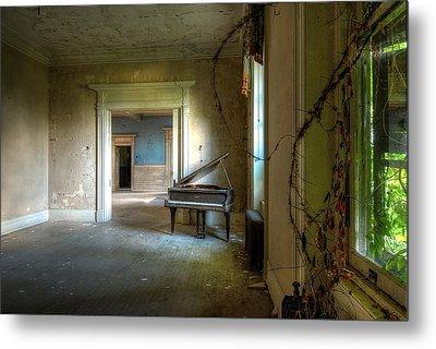 Lone Piano Metal Print by Sheri Knauer