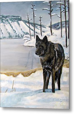 Lone Wolf Metal Print by Harriet Peck Taylor