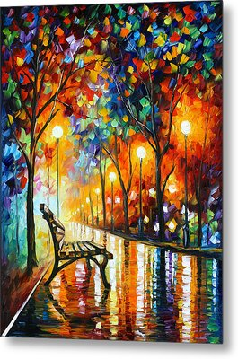 Loneliness Of Autumn Metal Print by Leonid Afremov