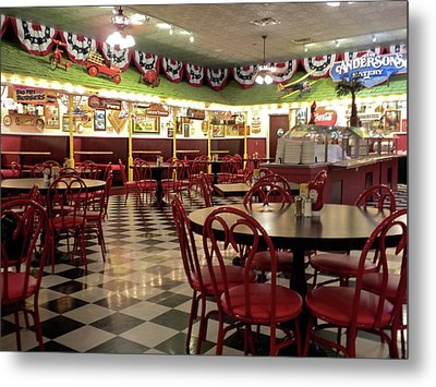 Lonely Cafe Metal Print by Thomas Woolworth