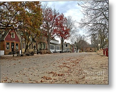 Lonely Colonial Williamsburg Metal Print by Olivier Le Queinec