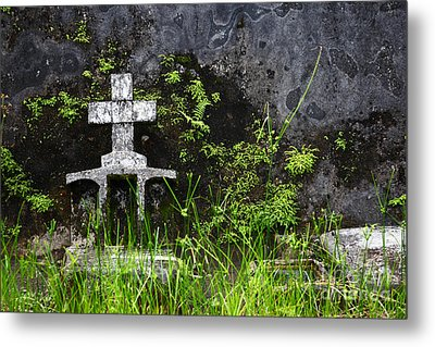 Lonely Grave Metal Print by James Brunker