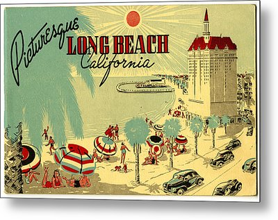 Long Beach 1946 Metal Print by Georgia Fowler