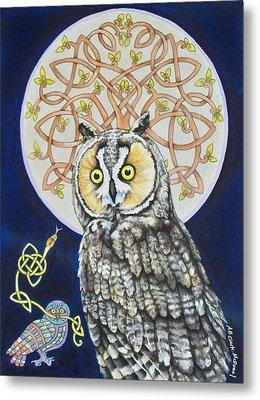 Long Eared Owl Metal Print by Beth Clark-McDonal