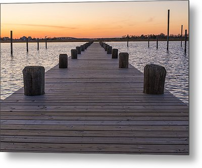 Long Pier Metal Print by Kristopher Schoenleber