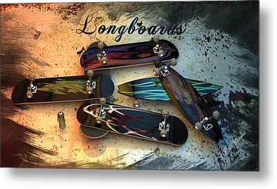 Longboards Metal Print by Louis Ferreira