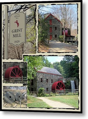 Longfellow's Grist Mill Metal Print by Patricia Urato