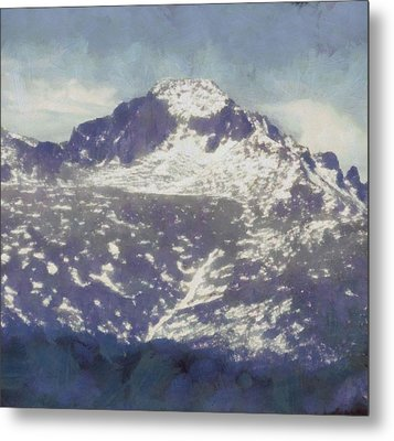 Longs Peak Metal Print by Dan Sproul