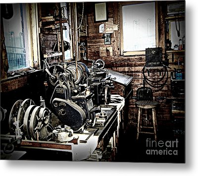 Look Into The Shop Metal Print by Ruth Jolly