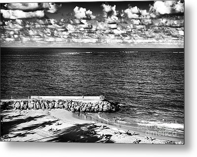 Looking Out Into The Ocean Metal Print by John Rizzuto