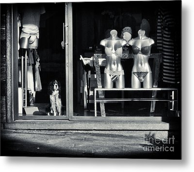 Looking Out The Shoppe Metal Print by Silvia Ganora