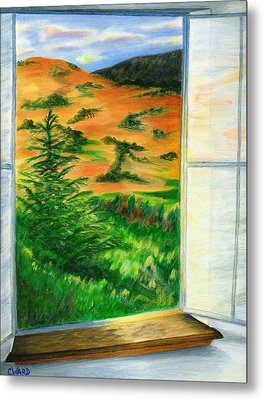 Looking Out The Window Metal Print by Colleen Ward