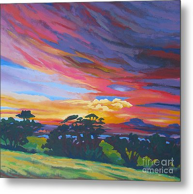 Looking West From Amador Hills Metal Print by Vanessa Hadady BFA MA