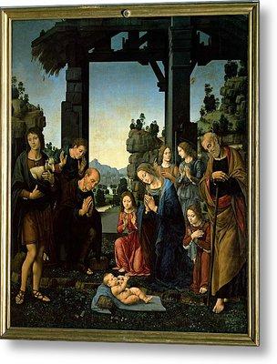 Lorenzo Di Credi, The Adoration Metal Print by Everett