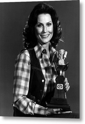 Loretta Lynn With Award Metal Print by Retro Images Archive