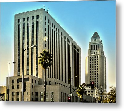 Los Angeles City Hall Metal Print by Gregory Dyer