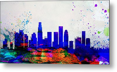 Los Angeles City Skyline Metal Print by Naxart Studio