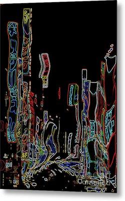 Losing Equilibrium - Abstract Art Metal Print by Carol Groenen