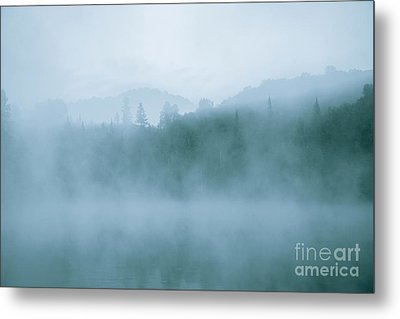 Lost In Fog Over Lake Metal Print by Jola Martysz
