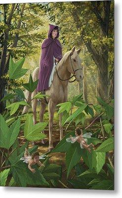 Lost Princess On Horseback Metal Print by Martin Davey