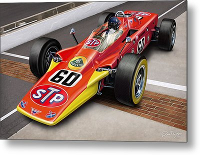 Lotus Stp Indy Turbine Metal Print by David Kyte