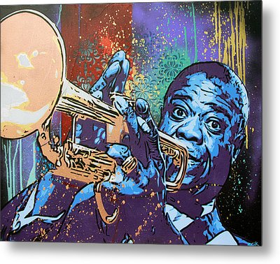 Louis Armstrong Metal Print by Bobby Zeik