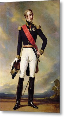 Louis-charles-philippe Of Orleans 1814-96 Duke Of Nemours, 1843 Oil On Canvas Metal Print by Franz Xaver Winterhalter