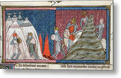 Louis Vii Reaches The Camp Metal Print by British Library