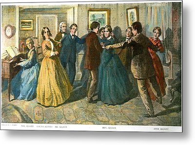 Louisa May Alcottand Her Family Metal Print by Granger