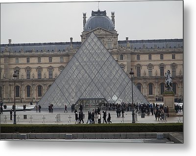 Louvre - Paris France - 011312 Metal Print by DC Photographer