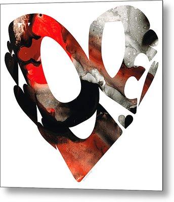 Love 18- Heart Hearts Romantic Art Metal Print by Sharon Cummings