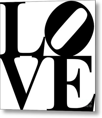 Love 20130707 Black White Metal Print by Wingsdomain Art and Photography