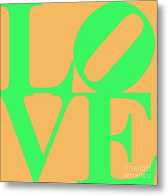 Love 20130707 Green Orange Metal Print by Wingsdomain Art and Photography