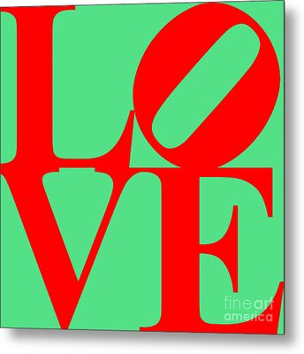 Love 20130707 Red Green Metal Print by Wingsdomain Art and Photography
