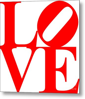 Love 20130707 Red White Metal Print by Wingsdomain Art and Photography